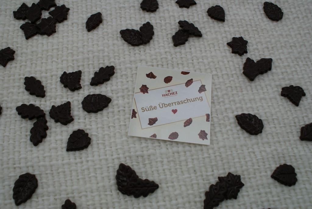 Süße Überraschung Braune Blätter Hachez