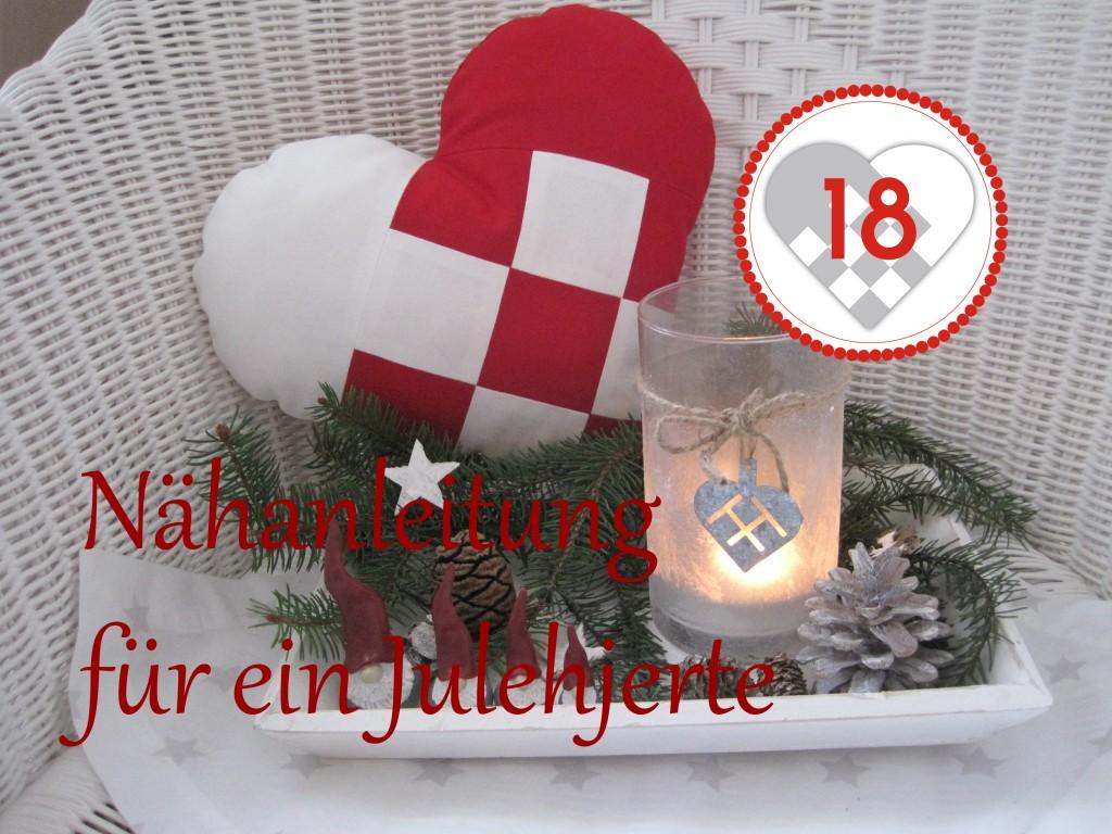 Dänemark wo das Glück wohnt Nähanleitung für ein Julehjerte