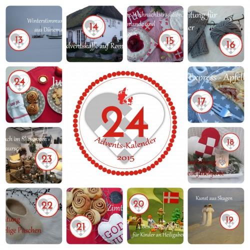 Dänemark wo das Glück wohnt Adventskalender 2015 1-12
